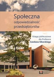 okładka Społeczna odpowiedzialność przedsiębiorstw, Ebook | Bogusław Kaczmarek
