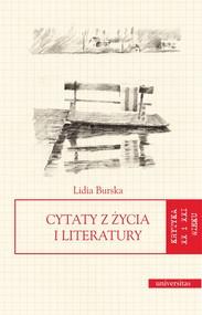 okładka Cytaty z życia i literatury, Ebook | Lidia Burska, Marek  Zaleski