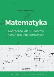 okładka Matematyka, Ebook   Dorota Pekasiewicz