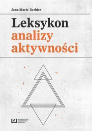 okładka Leksykon analizy aktywności, Ebook | Jean-Marie Barbier