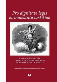 okładka Pro dignitate legis et maiestate iustitiae, Ebook | NULL