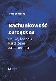 okładka Rachunkowość zarządcza, Ebook | Irena Sobańska