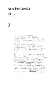 okładka Ono, Książka   Pawlikowska Anna
