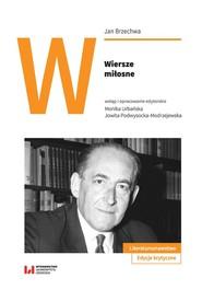 okładka Wiersze miłosne, Książka | Jan Brzechwa