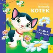 okładka Książka z puzzlami Nieśmiały kotek, Książka | Urszula Kozłowska