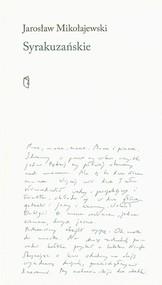 okładka Syrakuzańskie, Książka | Jarosław Mikołajewski