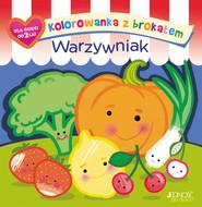 okładka Kolorowanka z brokatem Warzywniak, Książka | Ola (ilustracje) Makowska