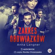 okładka Zakres obowiązków, Audiobook | Langner Anna