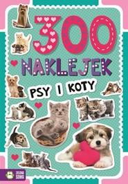 okładka 300 naklejek Psy i koty, Książka |