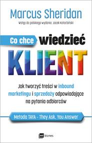 okładka Co chce wiedzieć klient?, Ebook | Sheridan Marcus