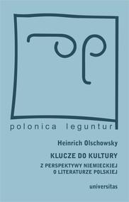 okładka Klucze do kultury. Z perspektywy niemieckiej o literaturze polskiej, Ebook | Olschowsky Heinrich
