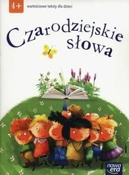 okładka Czarodziejskie słowa Wartościowe teksty dla dzieci  4-latki, Książka |