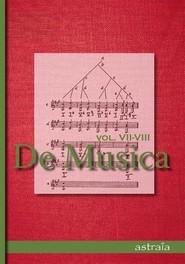 okładka De Musica Vol VII-VIII, Książka |
