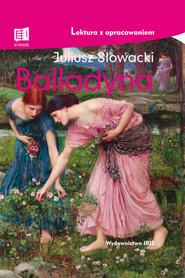 okładka Balladyna, Książka   Juliusz Słowacki