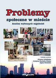 okładka Problemy społeczne w mieście Analiza wybranych zagadnień, Książka  