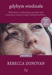 okładka Gdybym wiedziała, Ebook | Rebecca Donovan