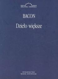 okładka Dzieło większe, Książka   Bacon Roger