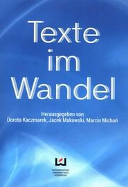 okładka Texte im Wandel, Książka  