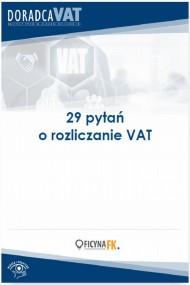 okładka 29 ważnych pytań o rozliczanie VAT. Ebook | PDF |