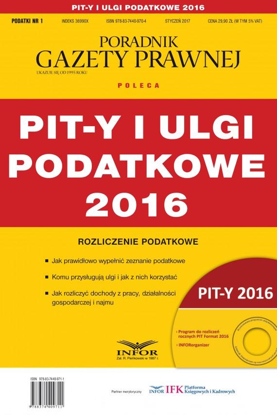 okładka PIT-y i ulgi podatkowe 2016ebook | PDF | Grzegorz Ziółkowski