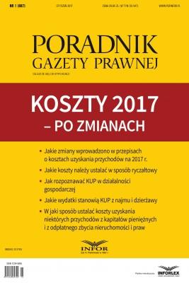 okładka Koszty 2017 – po zmianach, Ebook   Tomasz Krywan