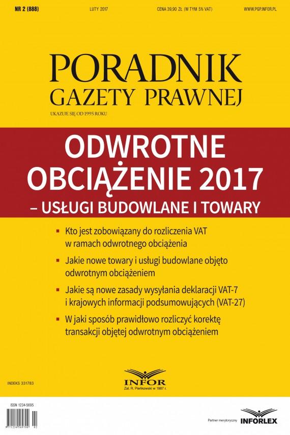 okładka Odwrotne obciążenie 2017 – usługi budowlane i towary. Ebook | PDF | Aneta Szwęch