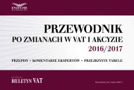 okładka Przewodnik po zmianach w VAT i akcyzie 2016/2017. Ebook | PDF | Praca zbiorowa