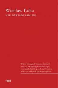 okładka Nie oświadczam się. Ebook | EPUB,MOBI | Wiesław Łuka