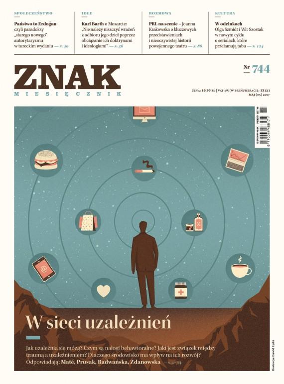 okładka ZNAK Miesięcznik nr 744: W sieci uzależnieńebook | EPUB, MOBI | autor zbiorowy