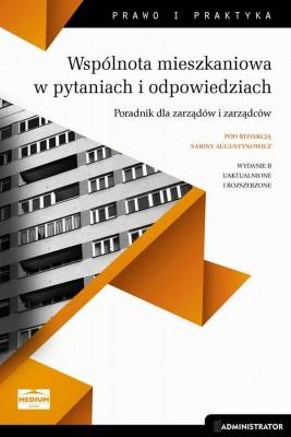 okładka Wspólnota mieszkaniowa w pytaniach i odpowiedziach. Poradnik dla zarządów i zarządców, Ebook | Sabina  Augustynowicz