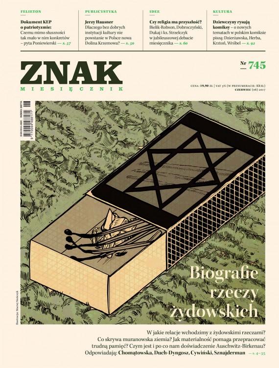 okładka ZNAK Miesięcznik nr 745: Biografie rzeczy żydowskichebook | EPUB, MOBI | autor zbiorowy