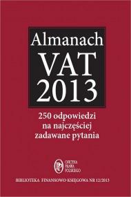 okładka Almanach VAT 2013, Ebook | Bogdan  Świąder, Marta  Grabowska-Peda, Krystyna  Brzozowska