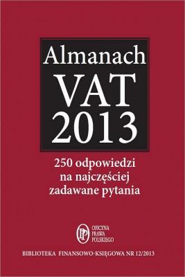 okładka Almanach VAT 2013, Ebook   Bogdan  Świąder, Marta  Grabowska-Peda, Krystyna  Brzozowska