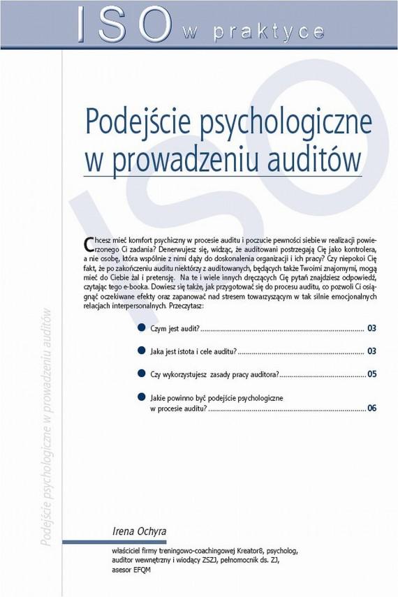 okładka Podejście psychologiczne w prowadzeniu auditów. Ebook   PDF   Irena  Ochyra