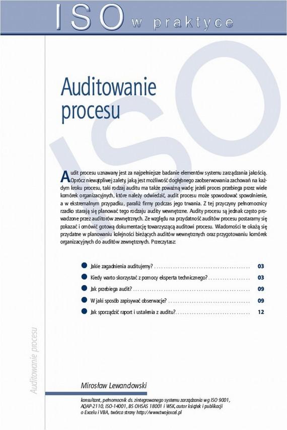 okładka Auditowanie procesu. Ebook   PDF   Mirosław  Lewandowski