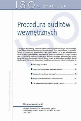okładka Procedura auditów wewnętrznych, Ebook | Mirosław  Lewandowski