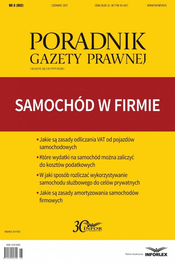 okładka Samochód w firmie. Ebook   PDF   INFOR PL SA