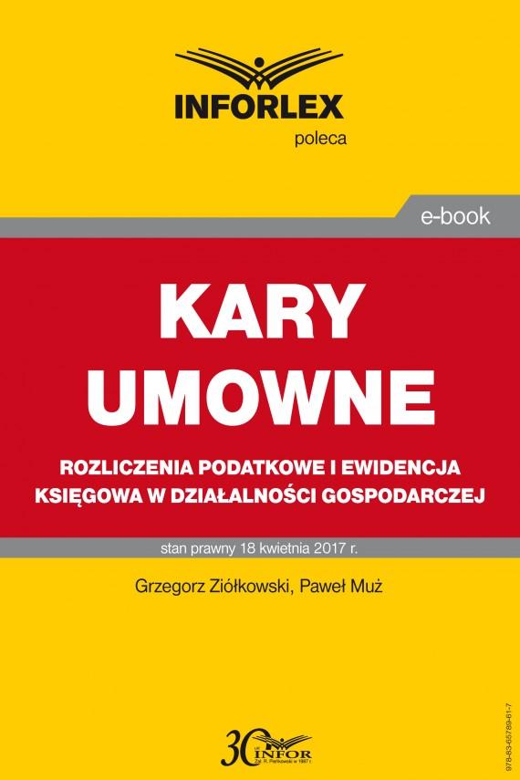 okładka KARY UMOWNE rozliczenia podatkowe i ewidencja księgowa w działalności gospodarczejebook | PDF | Grzegorz Ziółkowski, Paweł Muż