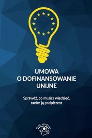 okładka Umowa o dofinansowanie unijne. Ebook | PDF | Praca zbiorowa