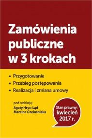 okładka Zamówienia publiczne w 3 krokach. Ebook | PDF | Praca zbiorowa