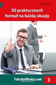okładka 50 praktycznych formuł na każdą okazję. Ebook | PDF | Wojciech  Próchnicki, Jakub  Kudliński
