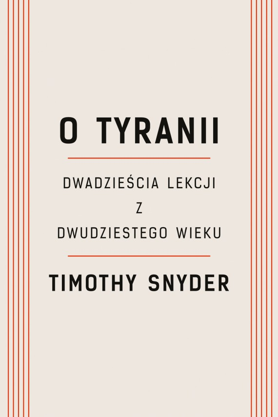 okładka O tyranii. Ebook | EPUB, MOBI | Timothy Snyder