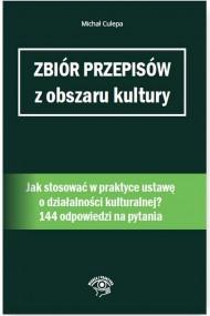 okładka Zbiór przepisów z obszaru kultury. Ebook | papier | Michał Culepa