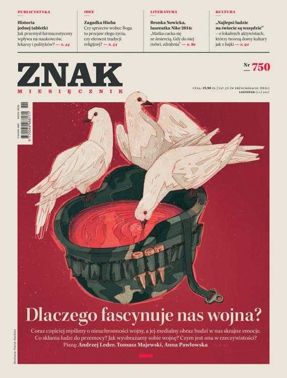 okładka Miesięcznik Znak nr 750: Dlaczego fascynuje nas wojna?. Ebook | EPUB, MOBI | autor  zbiorowy