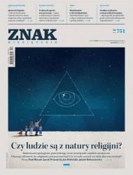 okładka Miesięcznik Znak nr 751: Czy ludzie są z natury religijni?. Ebook | EPUB,MOBI | autor zbiorowy