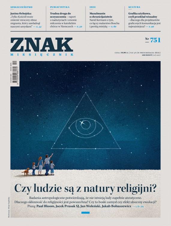 okładka Miesięcznik Znak nr 751: Czy ludzie są z natury religijni?ebook | EPUB, MOBI | autor zbiorowy