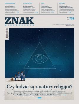 okładka Miesięcznik Znak nr 751: Czy ludzie są z natury religijni?, Ebook | autor zbiorowy
