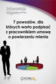 okładka 7 powodów, dla których warto podpisać z pracownikiem umowę o powierzeniu mienia. Ebook | papier | Piotr  Szulczewski