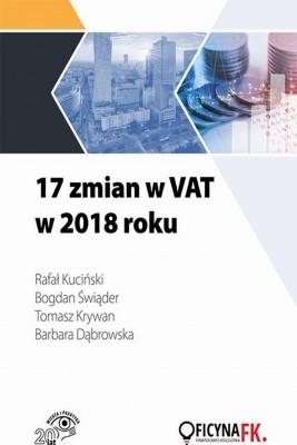 okładka 17 zmian w VAT w 2018 roku, Ebook   Praca Zbiorowa