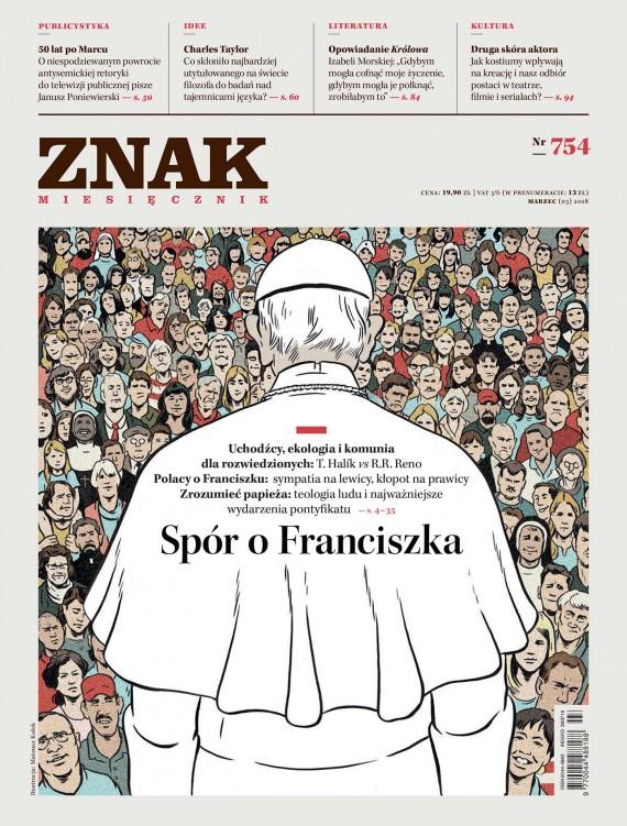 okładka Miesięcznik Znak nr 754: Spór o Franciszkaebook | EPUB, MOBI | autor  zbiorowy